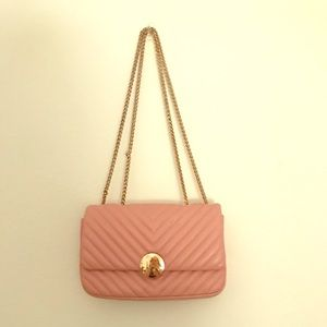 Genuine Leather baby pink purse!
